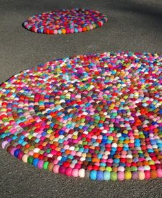 3ft YUMMI Round Felt Rug 90cmTagt Tag Team  by Craftasticparties on Etsy