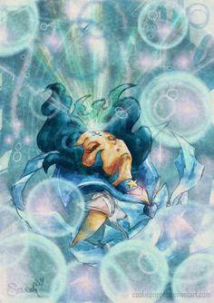 Sailor Mercury by *Cookiepoppet, fanart of Sailor Mercury (Ami Mizuno) from Sailor Moon
