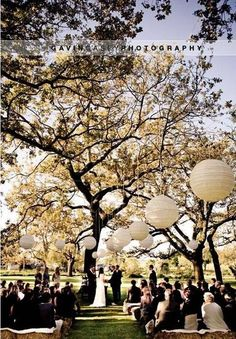 Wedding Outdoor and White Balloons Lighting