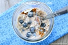 Overnight Blueberry Almond Oats by @Maria Canavello Mrasek Canavello Mrasek (Two Peas and Their Pod)