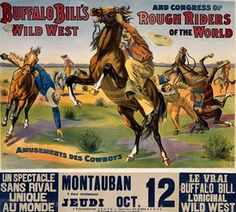 Vintage Buffalo's Bill's Wild West Show Circus Poster