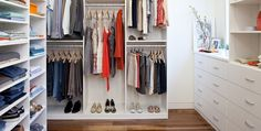 Big organized closet