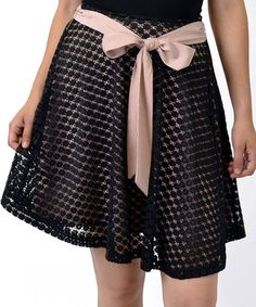 Take a look at this Black & Pink A-Line Skirt by Potter's Pot on #zulily today!