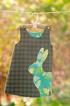 let's hop like a bunny!great applique idea