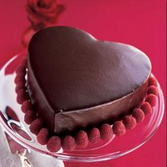 Chocolate Heart Layer Cake with Chocolate-Cinnamon Mousse