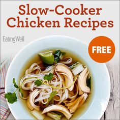 A FREE cookbook with healthy slow-cooker chicken recipes