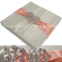 Wedding Invitation Box With Crystal Lock