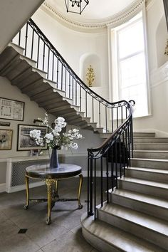 ZsaZsa Bellagio: At Home & Elegant |Pinned from PinTo for iPad|. Entry foyer and stairs. French English country traditional