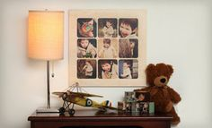 "Groupon - 16""x16"" or 20""x20"" Custom Wood Photo Collage Board from PhotoBarn (Up to 64% Off). Free Shipping. in Online Deal. Groupon deal price: $45.00"