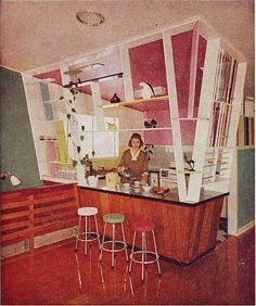 The vintage kitchen every woman wants.Australian House and Garden, December 1960.WOW!