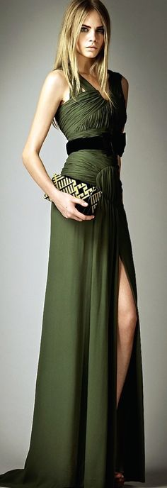 Olive green Burberry - stunning!