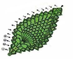 Шарф восьмерка схема вязания крючком