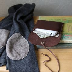 Leather Wrap Wallet or iphone case. $27.00, via Etsy.