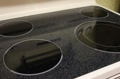 How to clean a glass top oven