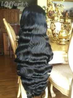 Exotic Body Wave Full wig with Skin Scalp 28-30 inches!