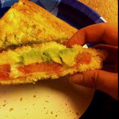 Avocado tomato grilled cheese x)