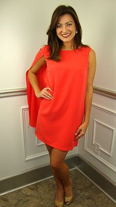Love this coral dress