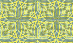 Square Faux Bois  Blue on Yellow