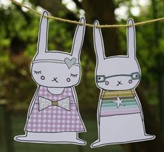 bunny cuteness with a free printable!