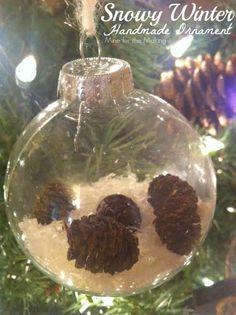 Snowy Winter DIY ornament