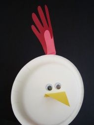 Paper Plate Rooster