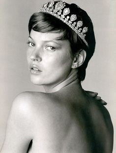 Kate Moss photographed in 2001 for Vogue Paris by Bert Stern