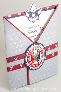 Boy Scout Eagle Invitations | Eagle Scout Court of Honor Invitation and Scrapbook Layout