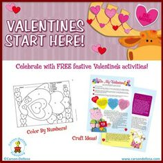 Don't miss the Valentine's Day activities on our Free Ideas and Activities page!