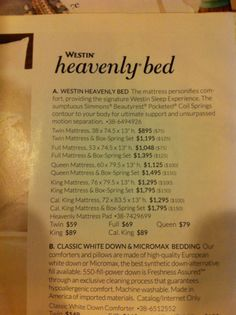 Westin Heavenly Bed at Pottery Barn