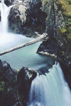 waterfal beauti, qualicum fall, canada, waterfal natur, nature, natur bridg, bridges, place, british columbia