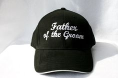 WEDDING Hat  Father of the Groom  Baseball Cap  Black  by ktimages