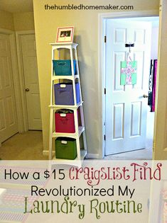 How a $15 Craigslist Find Revolutionized My #Laundry Routine - The Humbled Homemaker