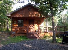 The accurately named Little Cabin in the Woods is tucked away in the Kiamichi Mountains in the town of Octavia. It's the perfect place for a weekend getaway with someone special and includes a hot tub, fire pit and modern amenities.