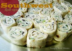 Southwest Roll-Ups Appetizer | Simply Real Moms...substitute corn tortillas and this would be a great gluten-free lunch!