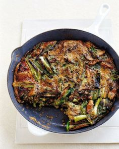 Mushroom and Scallion Frittata Recipe