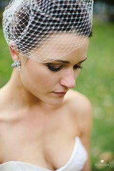 Birdcage veil | Lindsay Hite of Readyluck | Brides.com birdcage veils, birdcag veil