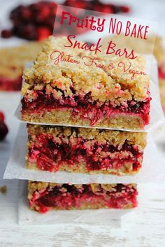 Super Fruity Snack Squares! Last of the cranberries! #glutenfree #vegan