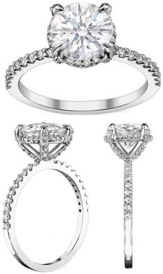 Engagement & The City | Crown Diamond Halo Engagement Ring