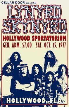 Lynyrd Skynyrd 1977 Tour Poster