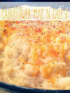 No Pasta Cauliflower Mac N Cheese