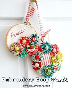 Craft Tutorial: Embroidery Hoop Wreath