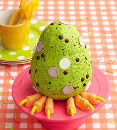 A  dinosaur egg cake by the ever-brilliant Karen Tack for @Parents Magazine