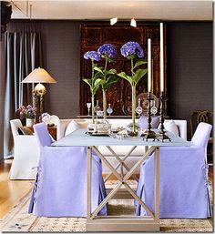 John Saladino purple chairs