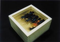 This is a sculptural painting by Japanese artist Riusuke Fukahori. Only paint and resin are used ...Amazing !