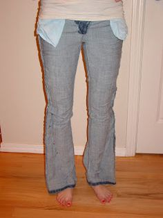 Making your own skinny jeans.