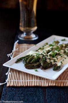 Roasted Asparagus with Beer Bernaise 2