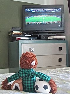Pepe watching the World Cup with Cooper