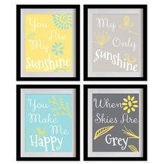 ON SALE You Are My Sunshine Nursery Art Print  by MadeForYouPrints