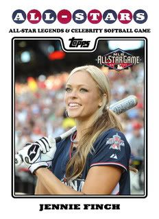 Jennie Finch pitched the USA team to a Gold medal in the 2004 Olympics & Silver medal in the 2008 Olympics