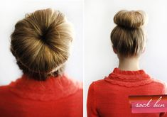 sock bun? I think I can get the look just with my hair no additives. I hope!